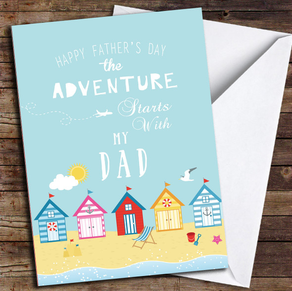 Adventure Beach Dad Personalised Father's Day Card