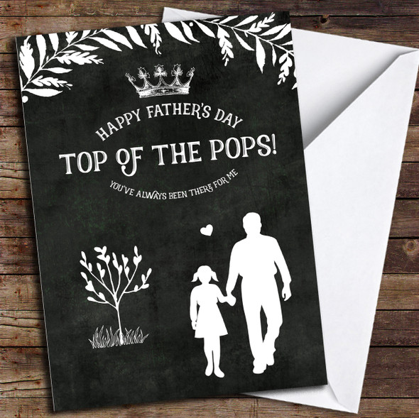 Chalk Top Of The Pops Personalised Father's Day Card