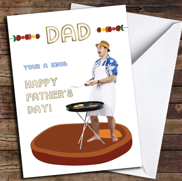 Funny BBQ Dad Personalised Father's Day Card