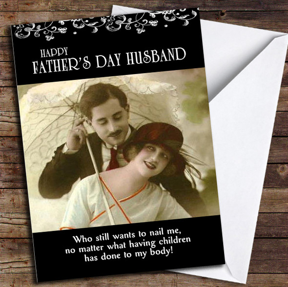Funny Retro Husband Personalised Father's Day Card