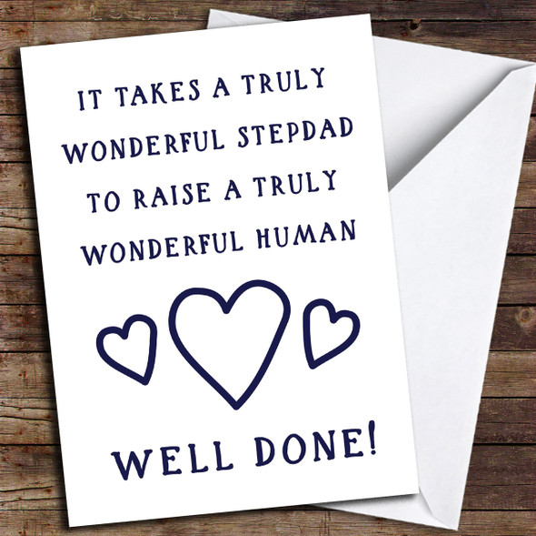 Funny Well Done Stepdad Personalised Father's Day Card
