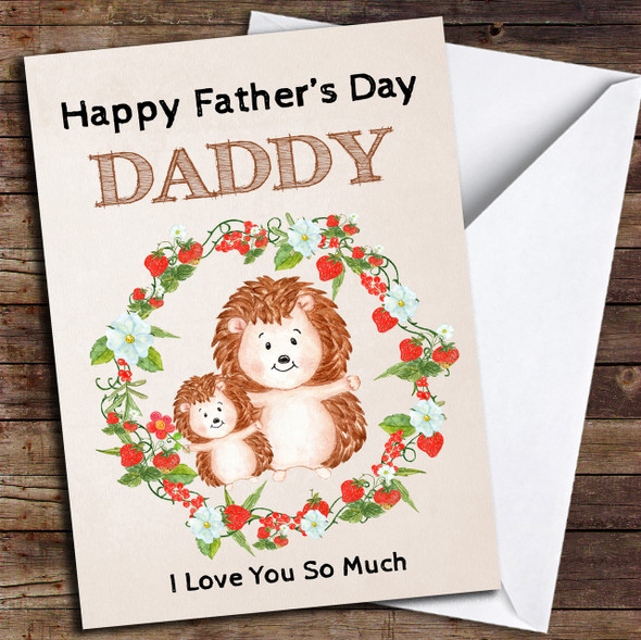 Hedgehogs Personalised Father's Day Card