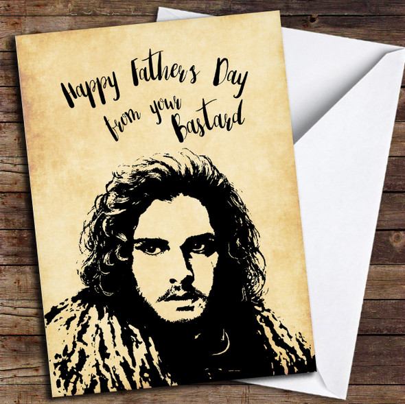 Jon Snow Fathers Day Bastard Personalised Father's Day Card