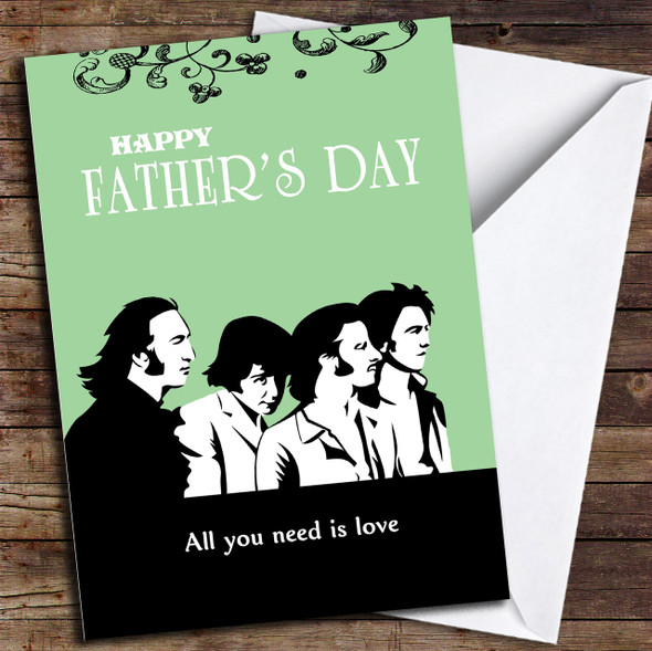 Retro Beatles Love Personalised Father's Day Card