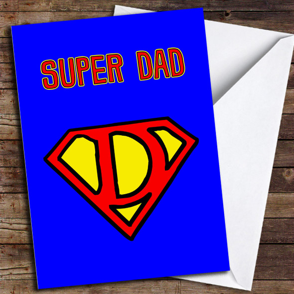 Super Dad Logo Personalised Father's Day Card