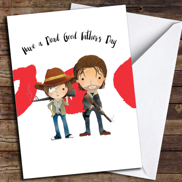 The Walking Dead Carl Rick Personalised Father's Day Card