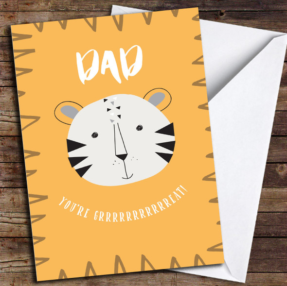 Tiger Dad Great Personalised Father's Day Card