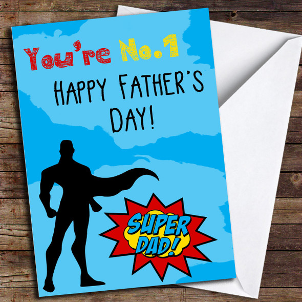 You're Number 1 Dad Super Personalised Father's Day Card