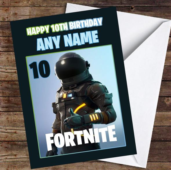 Dark Voyager Fortnite Personalised Children's Birthday Card