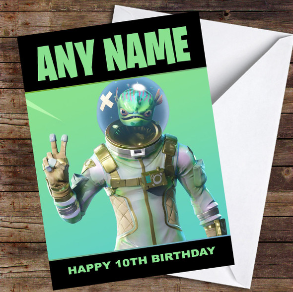 Fortnite leviathan Personalised Children's Birthday Card