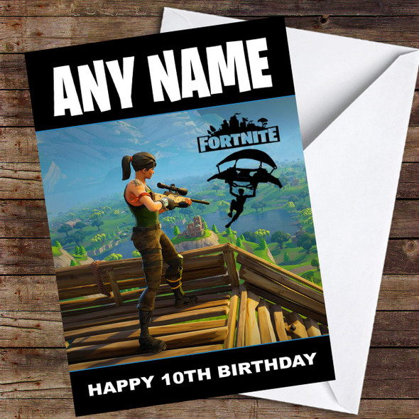 Game Fortnite Base Personalised Children's Birthday Card