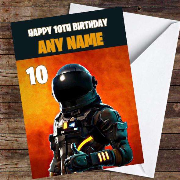 Fortnite Dark Voyager Personalised Children's Birthday Card