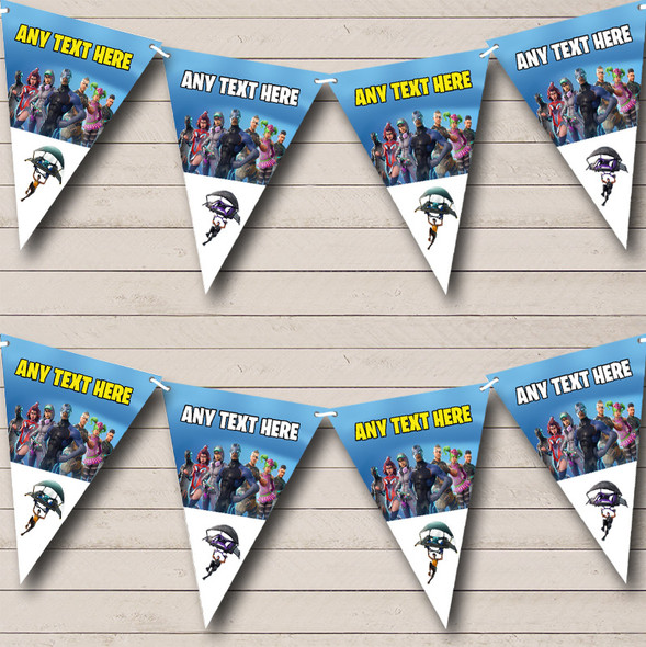 Fortnite Battle Pass Personalised Birthday Party Bunting Banner Garland Flags
