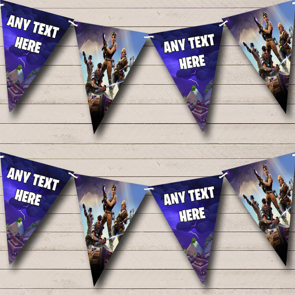 Fortnite Game Personalised Birthday Party Bunting Banner Garland Flags