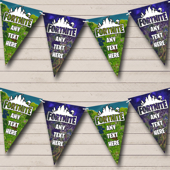 Fortnite Maps Personalised Birthday Party Bunting Banner Garland Flags
