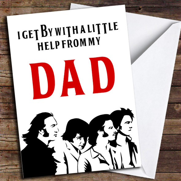 Funny Joke The Beatles Personalised Father's Day Card