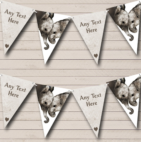 Elephant Baby Personalised Childrens Party Bunting