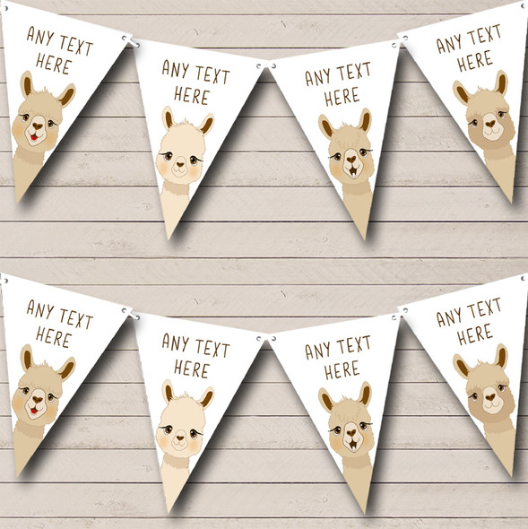 Llama Personalised Birthday Party Bunting