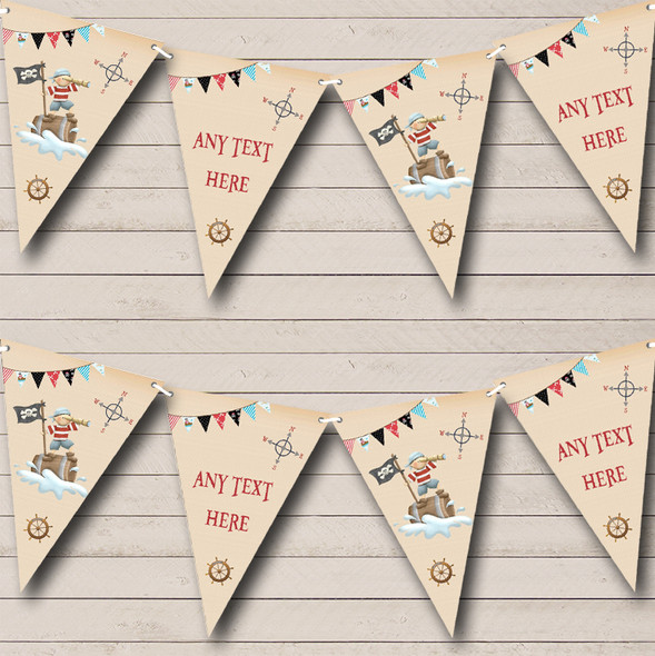 Lookout Pirate Personalised Baby Shower Bunting