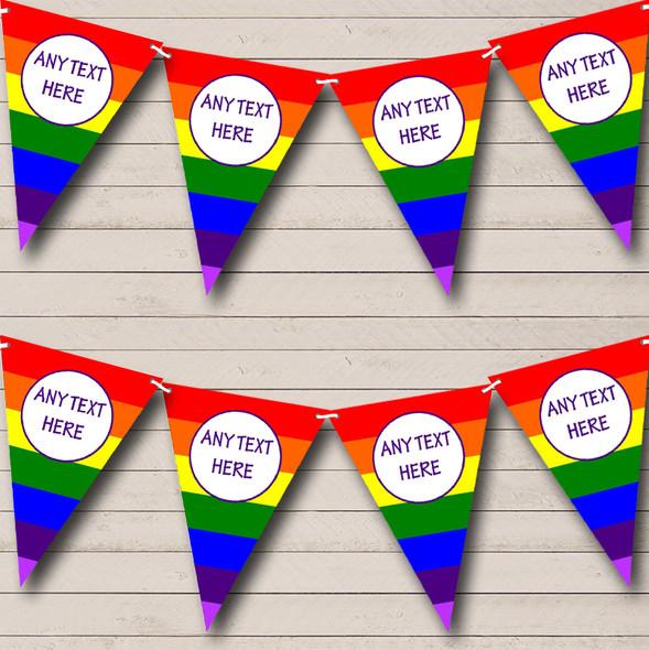 Rainbow Stripes Bright Gay Pride Personalised Birthday Party Bunting