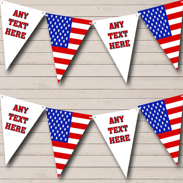 Stars Stripes American Flag Personalised Birthday Party Bunting