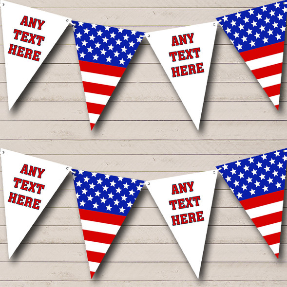 Stars Stripes American Flag USA Personalised Birthday Party Bunting