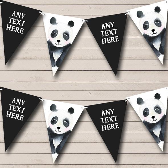 Watercolour Animal Panda Personalised Childrens Party Bunting