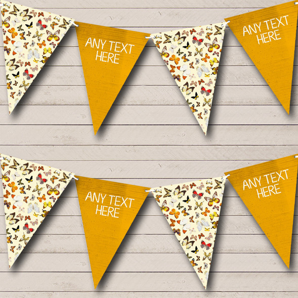 Yellow Butterfly Personalised Baby Shower Bunting