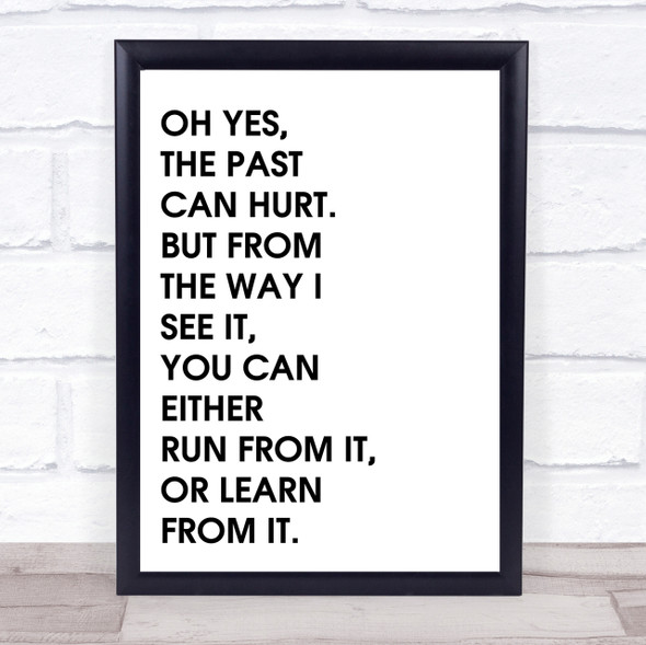 Lion King The Past Can Hurt Quote Wall Art Print