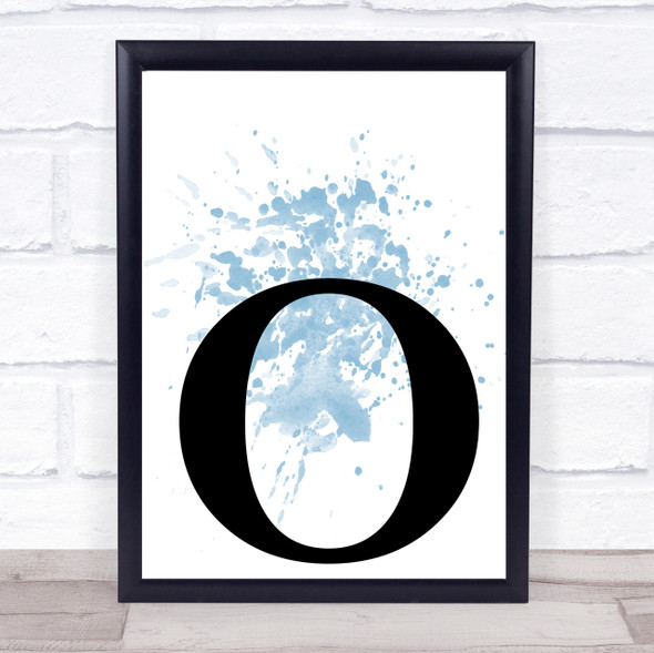 Blue Initial Letter O Quote Wall Art Print