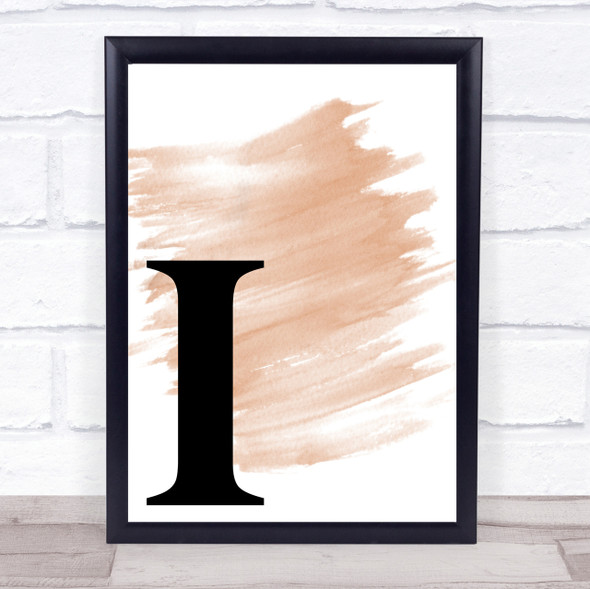 Watercolour Initial Letter I Quote Print