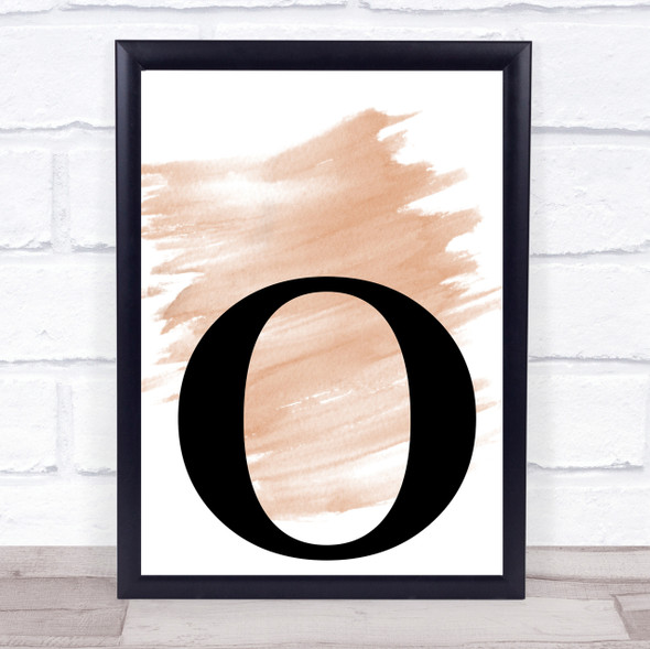Watercolour Initial Letter O Quote Print
