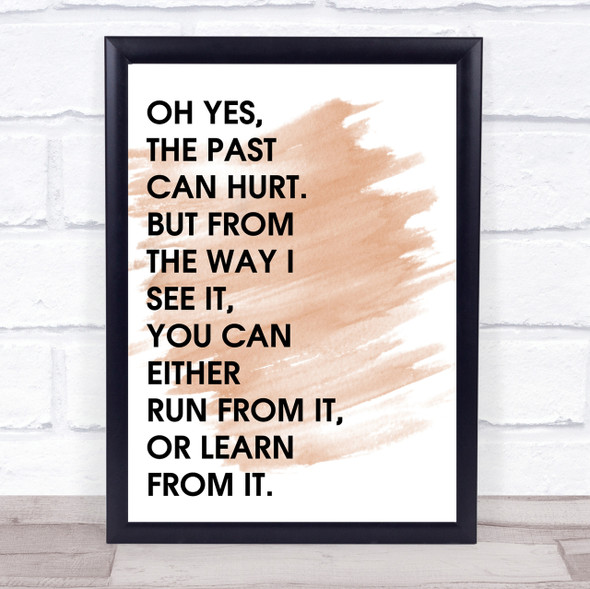 Watercolour Lion King The Past Can Hurt Quote Print