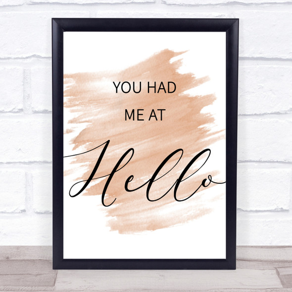 Watercolour Movie Film You Had Me At Hello Jerry Maguire Quote Print