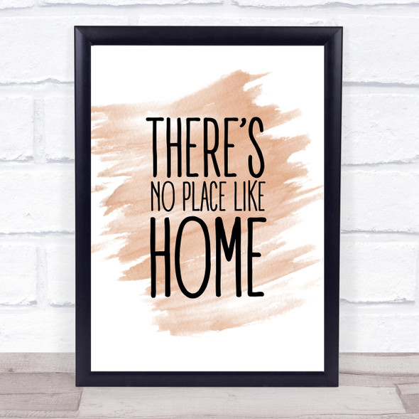 Watercolour No Place Like Home Wizard Oz Movie Quote Print