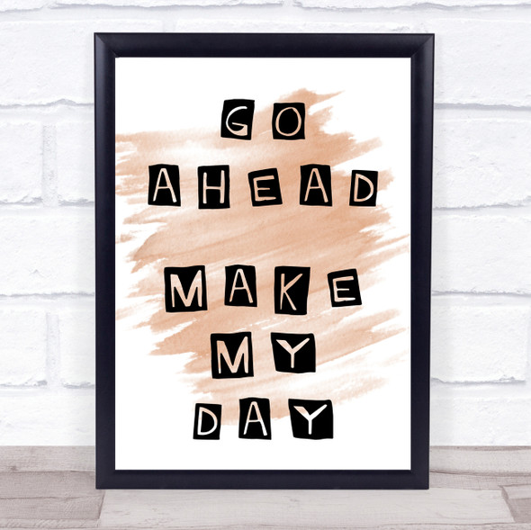 Watercolour Clint Eastwood Go Ahead Make My Day Movie Quote Print