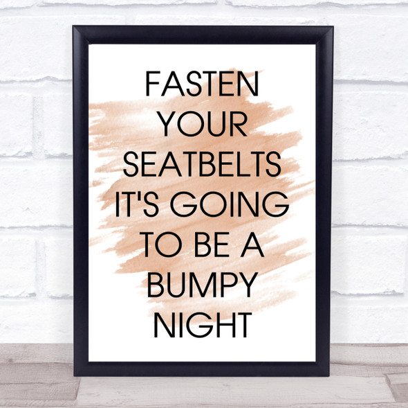 Watercolour Fasten Your Seatbelts All About Eve Movie Quote Print