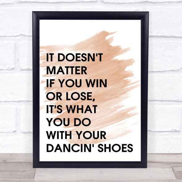 Watercolour Grease Vince Fontane Dancin' Shoes Quote Print
