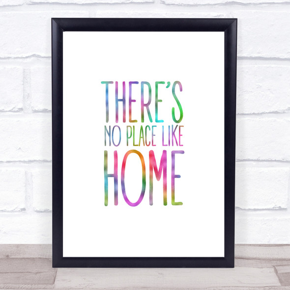 Rainbow No Place Like Home Wizard Oz Movie Quote Wall Art Print
