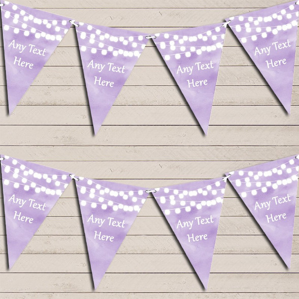 Lilac Purple Watercolour Lights Wedding Anniversary Bunting Garland Party Banner