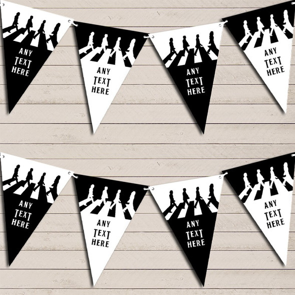 The Beatles Iconic Black & White Birthday Bunting Garland Party Banner