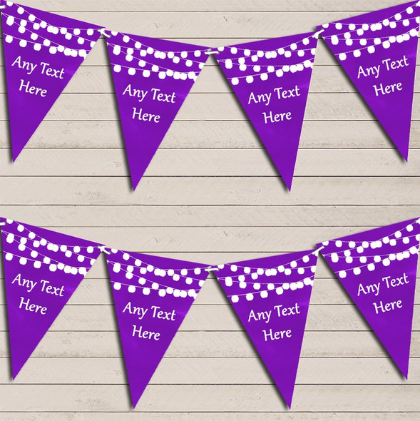 Purple Watercolour Lights Birthday Bunting Garland Party Banner