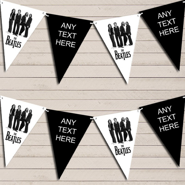 The Beatles Band Birthday Bunting Garland Party Banner