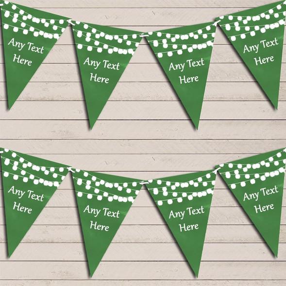 Deep Green Watercolour Lights Engagement Bunting Garland Party Banner