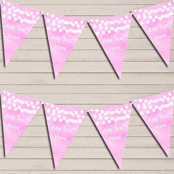 Baby Pink Watercolour Lights Engagement Bunting Garland Party Banner