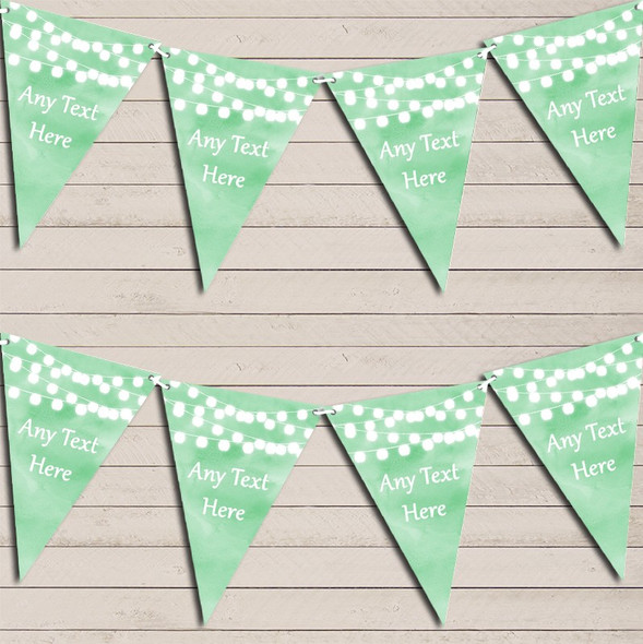Green Watercolour Lights Engagement Bunting Garland Party Banner