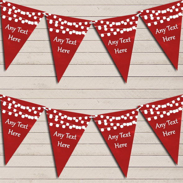 Red Watercolour Lights Engagement Bunting Garland Party Banner