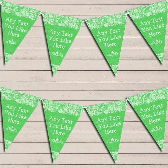 Pretty Lace Green Engagement Bunting Garland Party Banner