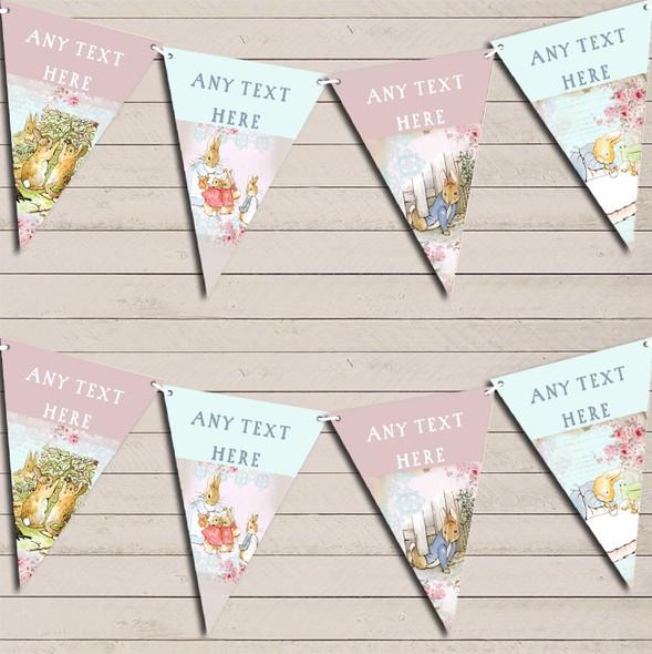Peter Rabbit Shabby Chic Children's Birthday Bunting Garland Party Banner