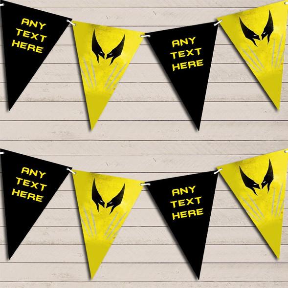 Superhero Wolverine Children's Birthday Bunting Garland Party Banner